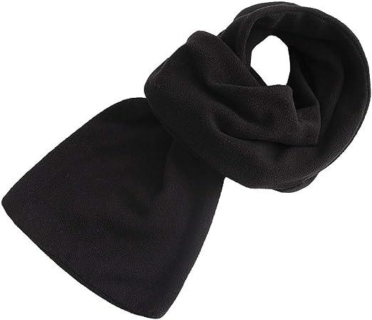 Men Fashion Pure Color Imitation Fleece Knitted Winter Warm Neck Scarf Shawl