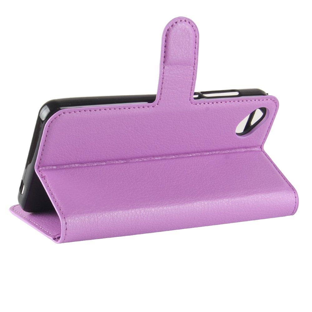 NAVT Wiko Sunny 2 Plus Cartera Fundas de PU Cuero Flip negro Standing Leather Wallet Case Cover Carcasa Funda con Ranura de Tarjeta Cierre Magn/ético y funci/ón de soporte para Wiko Sunny 2 Plus
