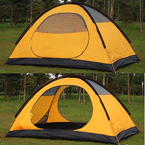 HILLMAN 4 Season 2-3 Person Waterproof Dome Aluminum Rod Lightweight Camping Hiking Travel Climbing (RED)