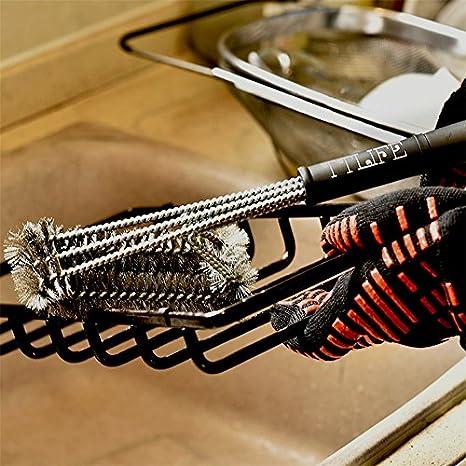 Cepillo Barbacoa TOPQSC Cepillo de Limpieza de Barbacoa al Aire Libre