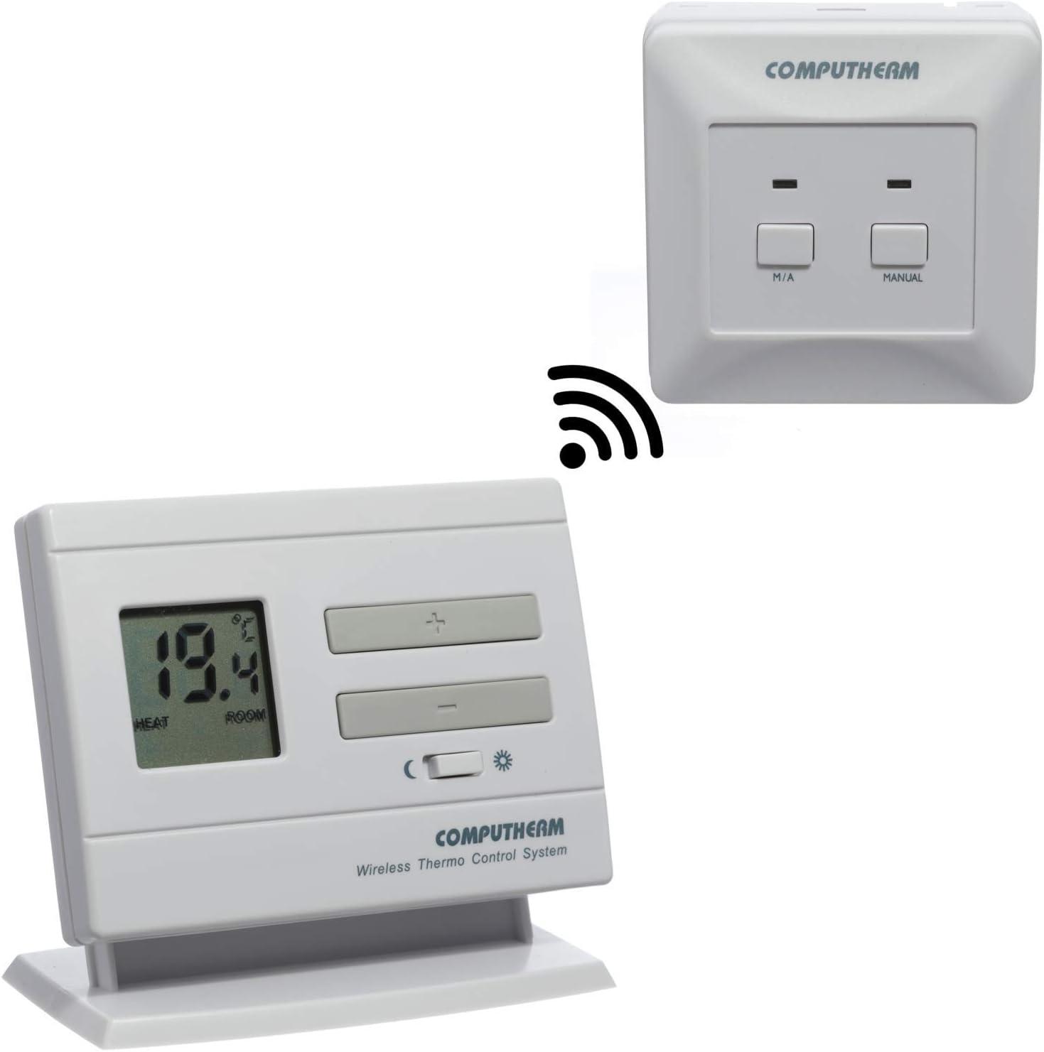 COMPUTHERM Q3RF termostato digital inalámbrico inteligente de calderas para interiores, aire acondicionado y suelo radiante con regulador inalámbrico