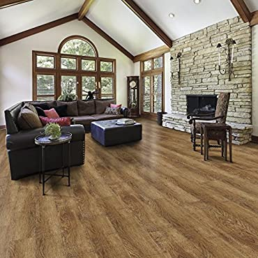 Select Surfaces Click Laminate Flooring (Toffee)