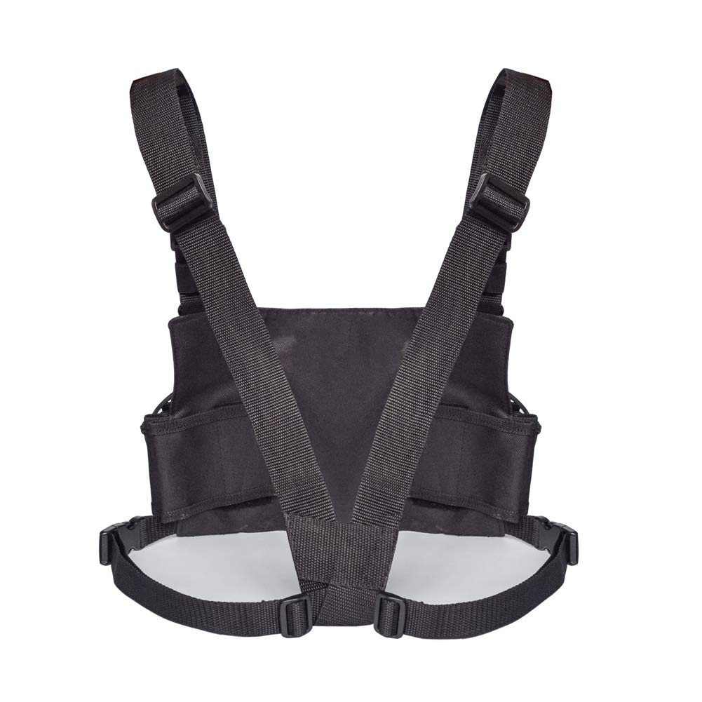 Heavy Duty Radio Chest Harness Adjustable for Women/&Men Rescue Camping Hiking QEES Tactical Chest Rig Chest Front Pack Pouch Holster Vest Rig with Front Pouches for Walkie Talkies Accessories