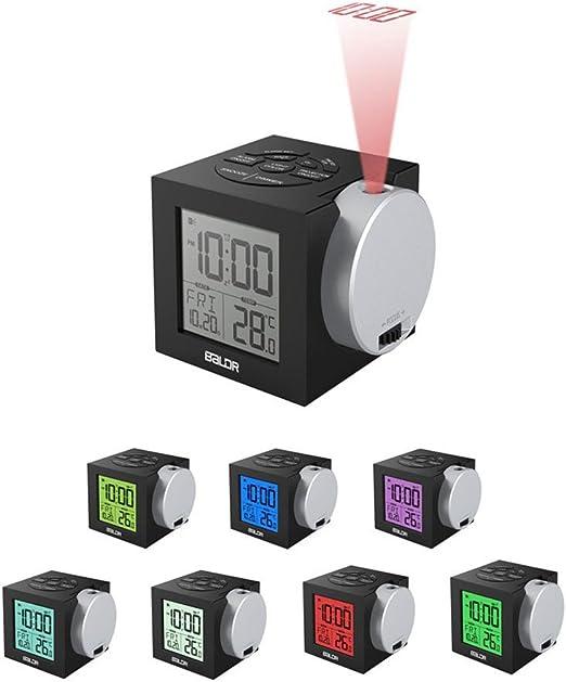 RELOJ PROYECTOR, HomeYoo Despertador Proyector con Alarmas con ...