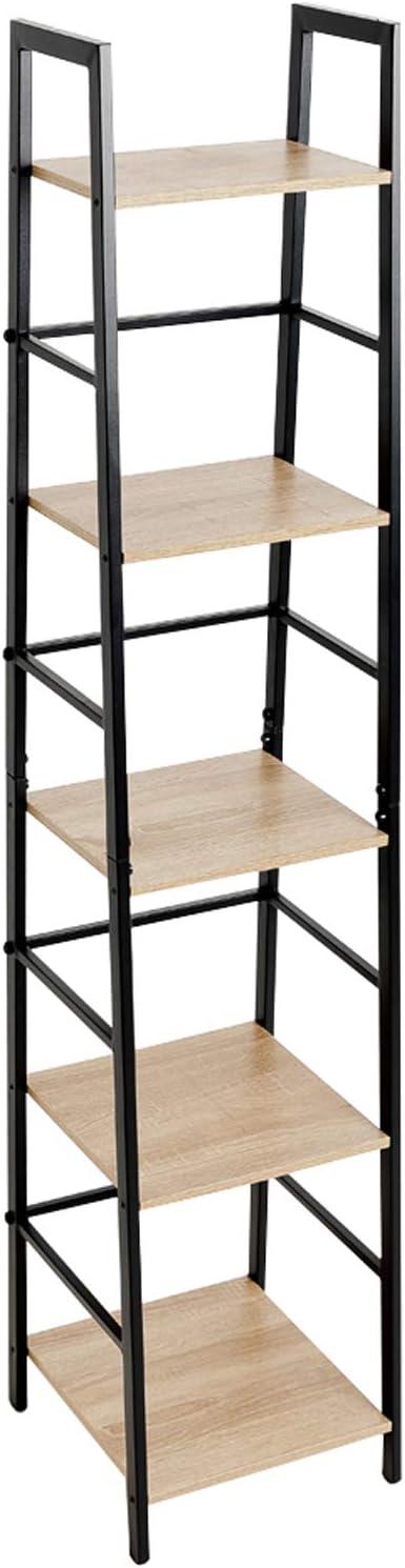 C-Hopetree Estantería de escalera – Estantería de esquina de 5 niveles – marco de metal negro