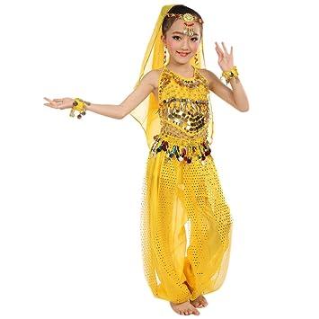 feiXIANG Trajes para niñas Bebé Niños Baile Indio Danza del ...