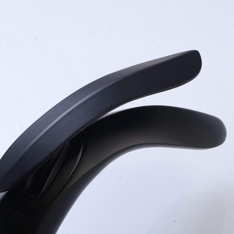 Sola manija Grifo del ba/ño Acabado en negro Tipo de hoja mezclador de lavabo Grifos 1 orificio de montaje Lavatorio Grifo antiguo elegante moderno Leekayer
