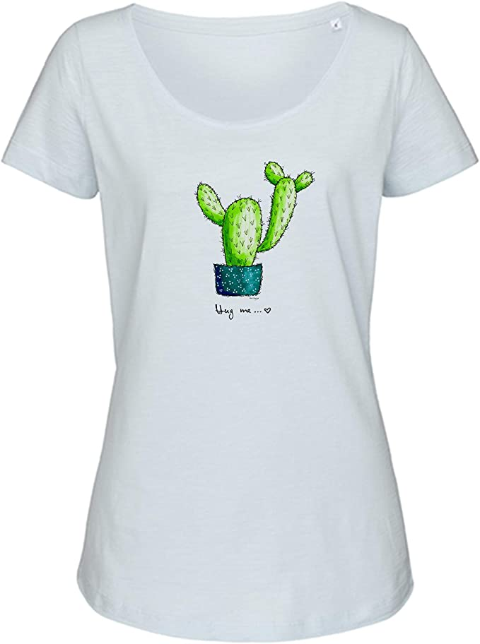 Camiseta para mujer Kaktus-Hug me con diseño de cactus ...