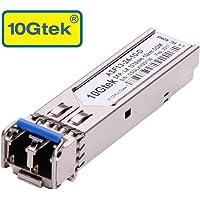 10Gtek for Cisco GLC-LH-SMD/ GLC-LH-SM/ SFP-GE-L, Gigabit SFP Transceiver, 1000Base-LX/LH, SMF, 1310nm, 10km