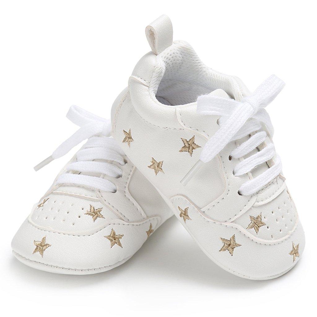 1079b291 D DOLITY - Zapatillas de deporte para niños y niñas Golden star Talla:12-18  meses: Amazon.es: Bebé