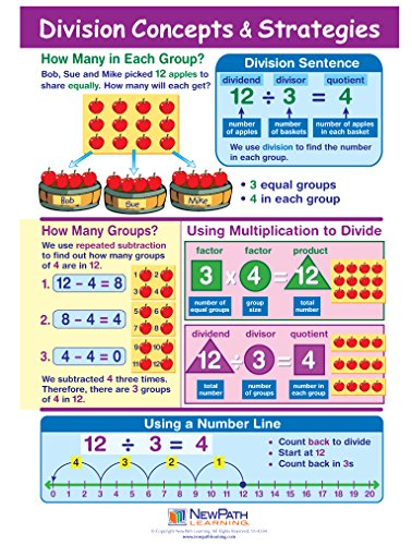 (Division Concepts & Strategies Visual Learning Guides, Set/5-4-Panel, 11