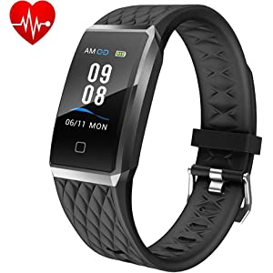 Willful Montre Connectée Femmes Homme Smartwatch Bracelet Connecté Podometre Enfant Cardio Etanche IP68 Sport Smart Watch