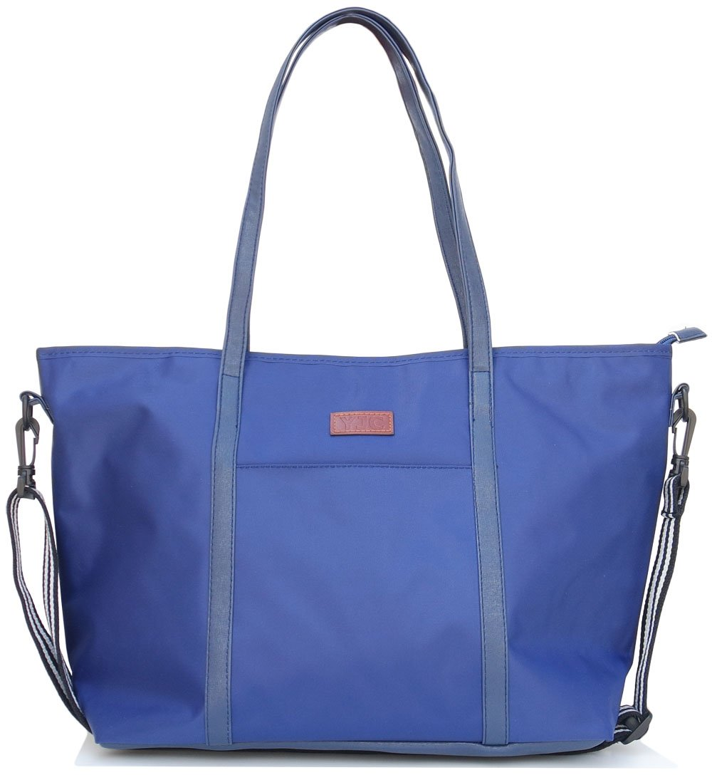 Canvas Tote Bags Nylon Travel Luggage Bags Beach Bags For Women (A1.Navy-1)