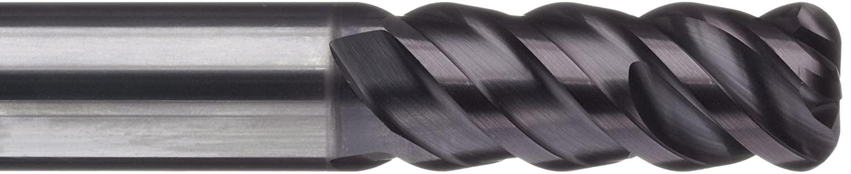 100mm Overall Length 30 Deg Helix 6mm Cutting Diameter Metric TiAlN Monolayer Finish 1mm Corner Radius 4 Flutes Sandvik Coromant R216.24 Carbide Corner Radius End Mill 8mm Shank Diameter