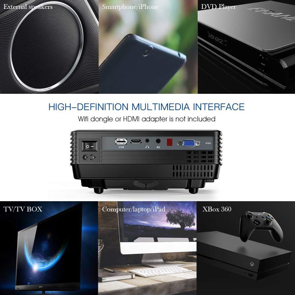 Mini proyector Twinyuan , proyector de Video LED portátil para el ...