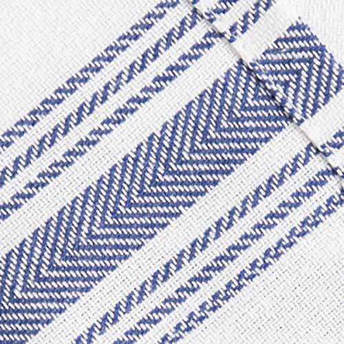Value Basics Herringbone Stripe Kitchen Towel Set, 15'' x 25'', 14-Pack, Blue & White by Value Basics (Image #4)