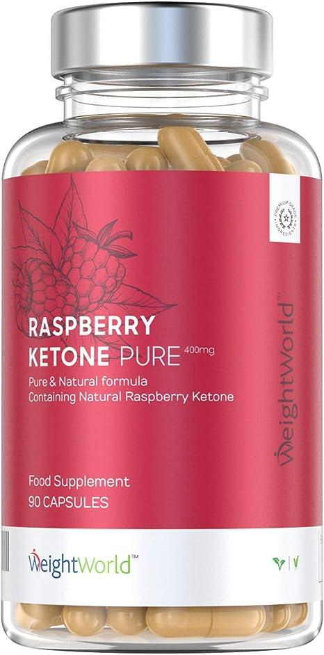 Image of Raspberry Ketone Puro - Suplemento De Cetonas De Frambuesa - Ayuda A Adelgazar De Forma Segura y Eficaz - Perder Peso Y Quemar Grasa De Forma Natural - 90 Cápsulas
