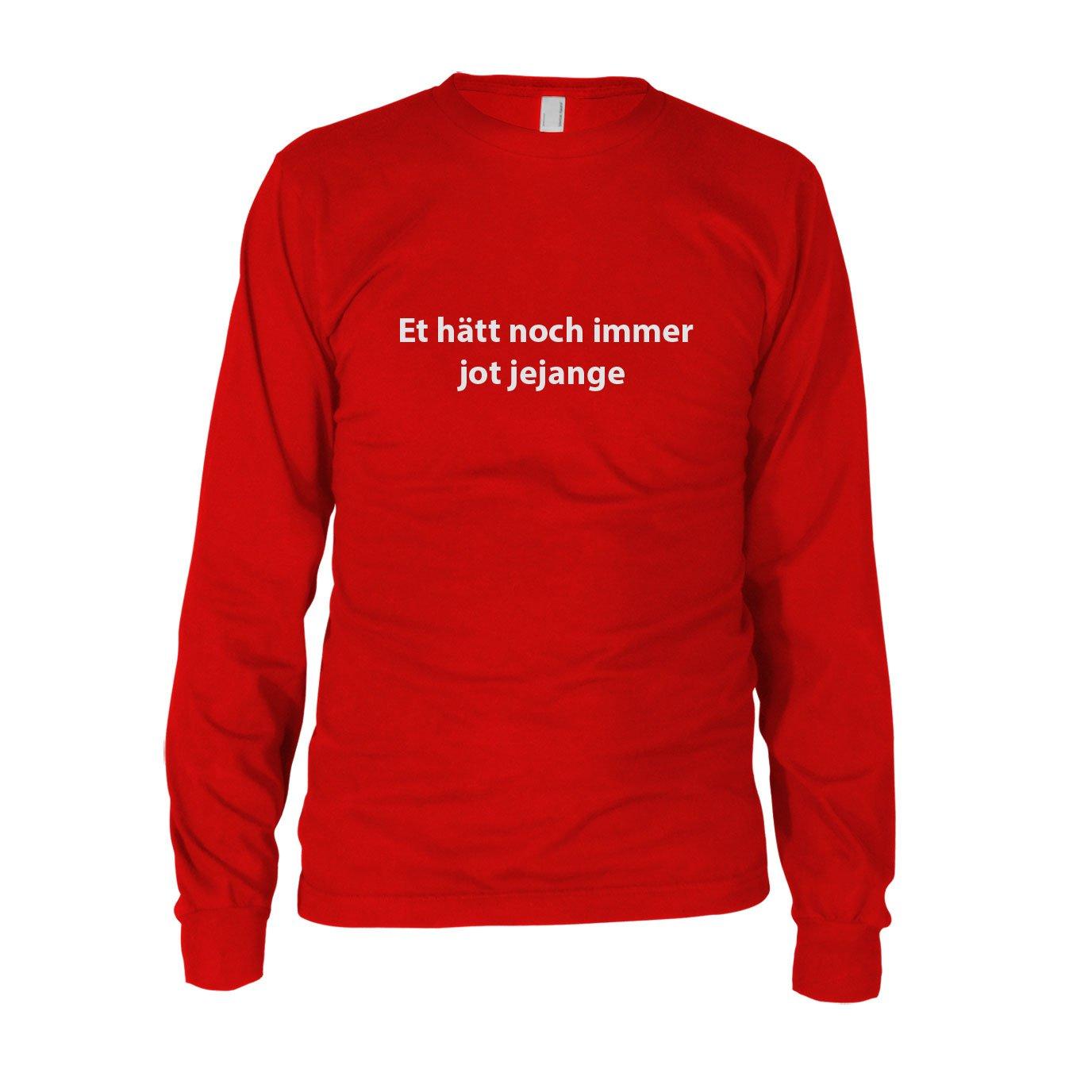 Et hätt noch immer jot jejange - Herren Langarm T-Shirt: Amazon.de:  Bekleidung