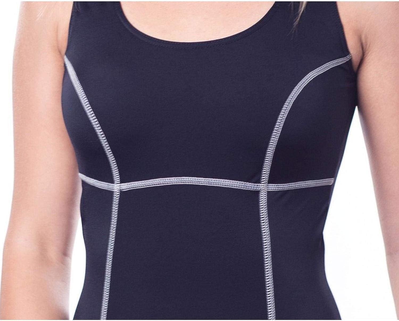 Aquarti Damen Schwimmanzug mit Bein Geschlossener R/ücken