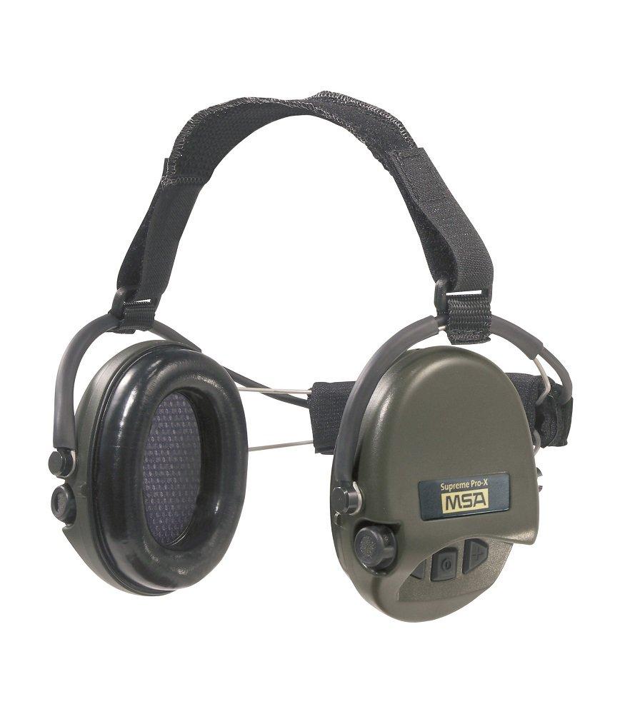 MSA Sordin Supreme Pro X with green cups - Neckband - Electronic Earmuff, slim-design by MSA Sordin