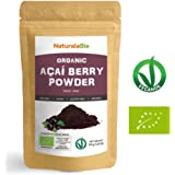 Organic Açai Berries Powder [ Freeze-Dried ] 50g | 100% Pure Brazilian Acai, Lyophilised, Raw. Extract from Acai Berry Pulp. Superfood Rich in Antioxidants and Vitamins | Vegan & Vegetarian Friendly.