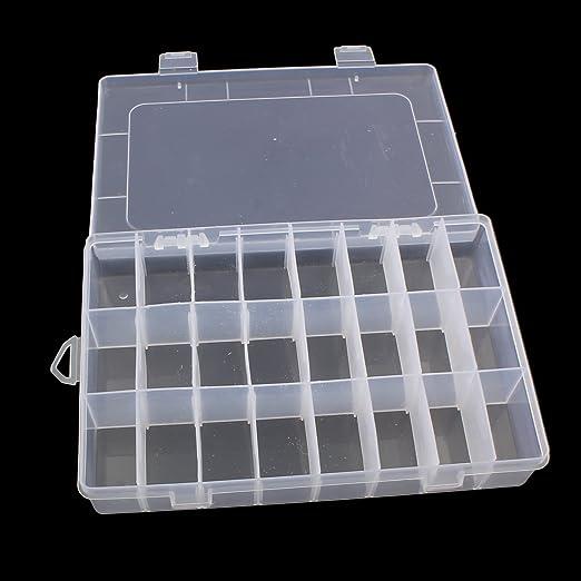 Caja de perlas XL grande con 24 compartimentos, 20 cm, caja ...