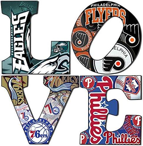 Amazon.com: Philadelphia Sports Love teams 5 (12x12): Posters & Prints
