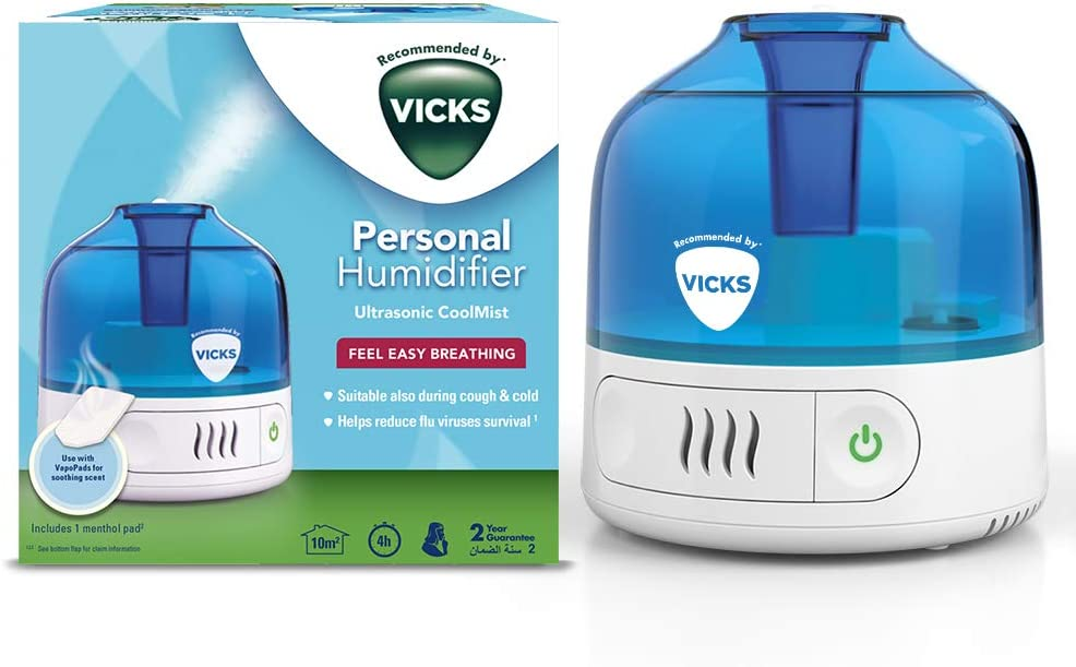 Vicks VUL505 Cool Mist Personal Humidifier, White
