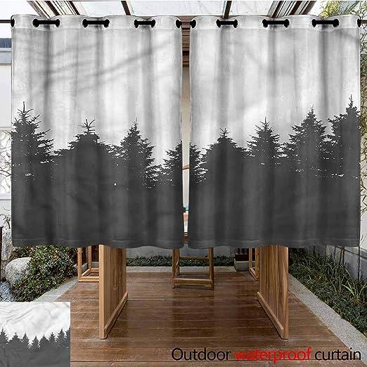 Sunnyhome - Cortinas con Arandelas para Exteriores: Amazon.es: Jardín