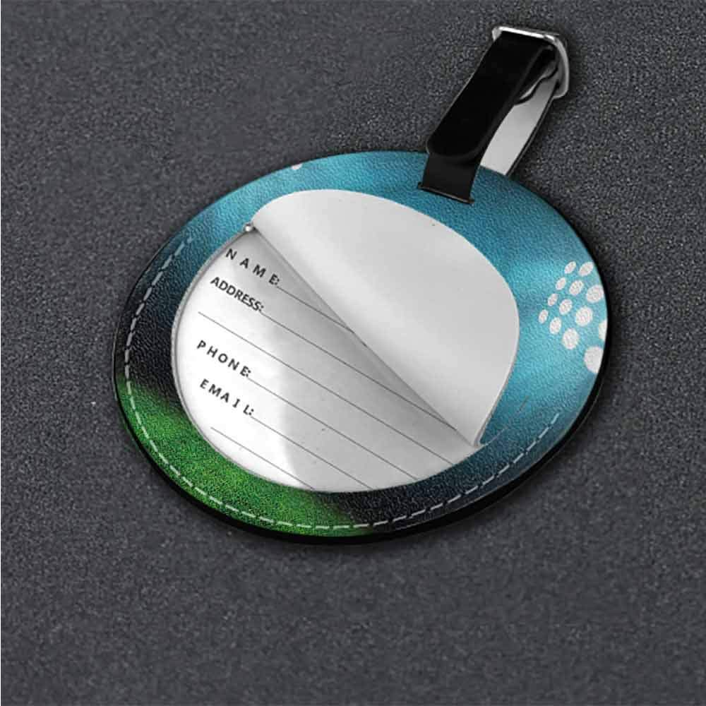 Luggage Tags Digital,Future Technology Theme Label Tag Address Holder