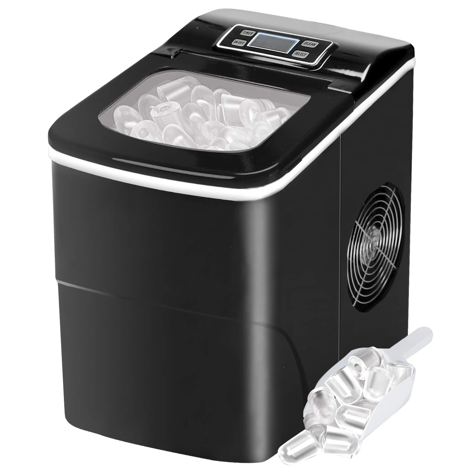 alpha-ene.co.jp Perfe for Home/Office/Bar 2 Qt Countertop Ice ...