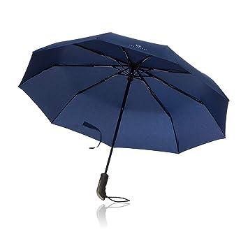 VON HEESEN Paraguas Plegable Automático de Viaje de Carttiya, Paraguas del Viaje Que Lleva un