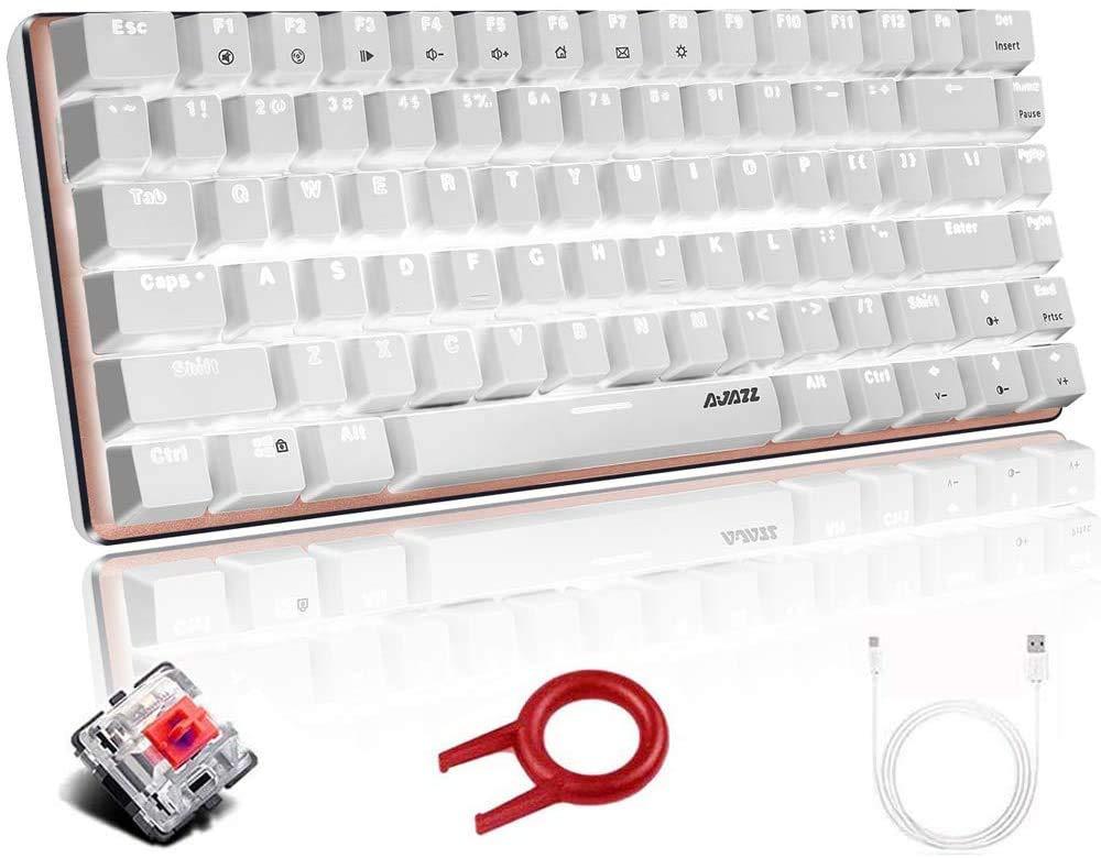 Teclado Mecanico FELiCON AK33 White LED USB Cable 82 Key Com