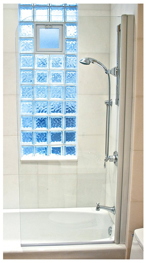 Amazon.com: Ark Showers Semi Frameless Bathtub Shower Screen, Pivot Door,  70 X 33.5, 5/16 (8mm) Glass With Square Top Corner, White Hinge.