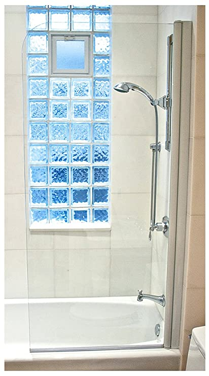 Gentil Ark Showers Semi Frameless Bathtub Shower Screen, Pivot Door, 70 X 33.5,
