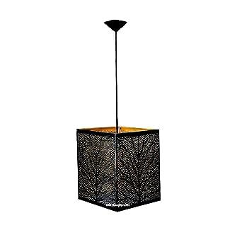 Antique Black Gold Square Hanging Lamps  Black Gold  Ceiling Lighting