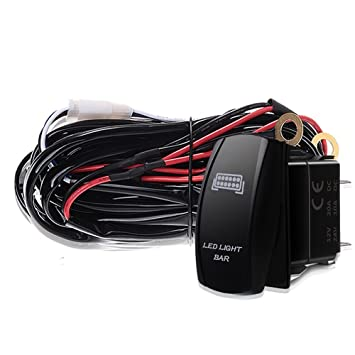 3 Blei 12 Gauge 600W LED Scheinwerfer Kabelbaum 40A Relais,LED Light ...