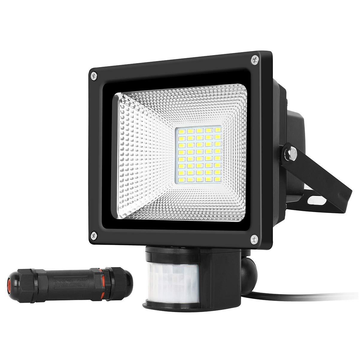 Flutlicht 20W LED, IP68 imprägniern, 2000LM, LED-Außenbeleuchtung, Sicherheits-Beleuchtungs-Lampe mit äußerem Außenjacke-Verbindungsstück für allgemeine Beleuchtung, Garage, Korridor, Garten, usw. IP68 imprägniern LED-Außenbeleuchtung INKERSCOOP