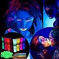 ETEREAUTY UV Blacklight Face and Body Paint Set of 8 1-oz Tubes