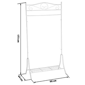 TecTake Perchero soporte colgador de ropa percha burro - disponible en diferentes colores - (Blanco   no. 402011)