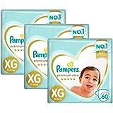 Kit Fralda Pampers Premium Care Jumbo Tamanho Xg 180 Unidades