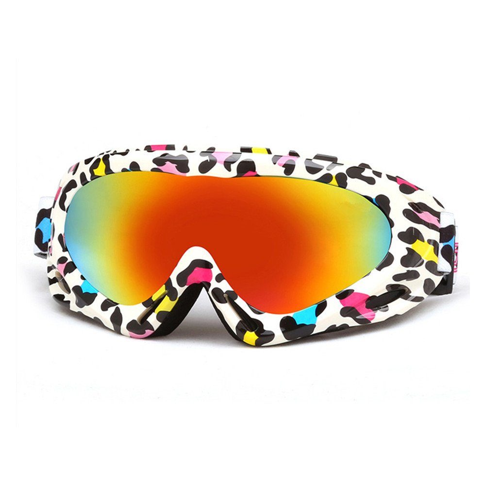 Erwachsene Snow Skibrille Bunte Objektiv Motocross Anti-Fog Fashion Eye Schutz Brillen