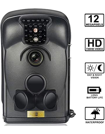 Bestok Cámara de Caza 12MP 1080P Cámara de Vigilancia Trail Cámara IP66 Impermeable 24 IR Invisible