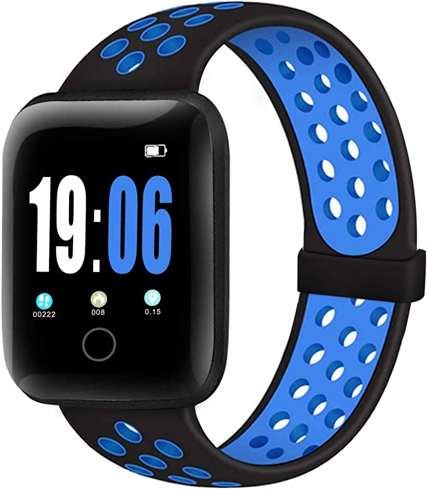 ElaikementSport Band Compatible for Watch Bands 38mm 40mm 42mm 44mm Women Men, Breathable Soft Silicone Replacement Strap Compatible for Watch Series 6/5/4/3/2/1/SE, S/M M/L