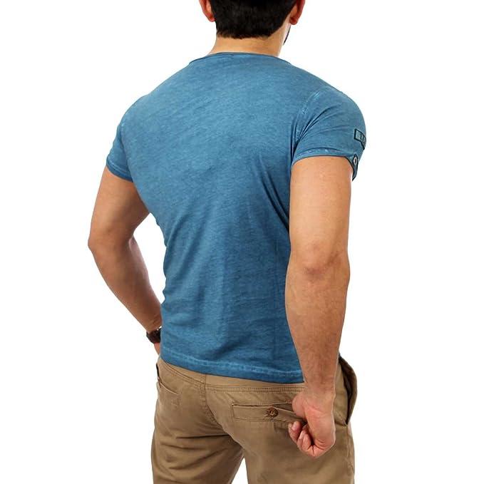e98dde7e73d474 Reslad Herren Batik Style Washed T-Shirt 4050 Petrol 2XL  Amazon.de   Bekleidung