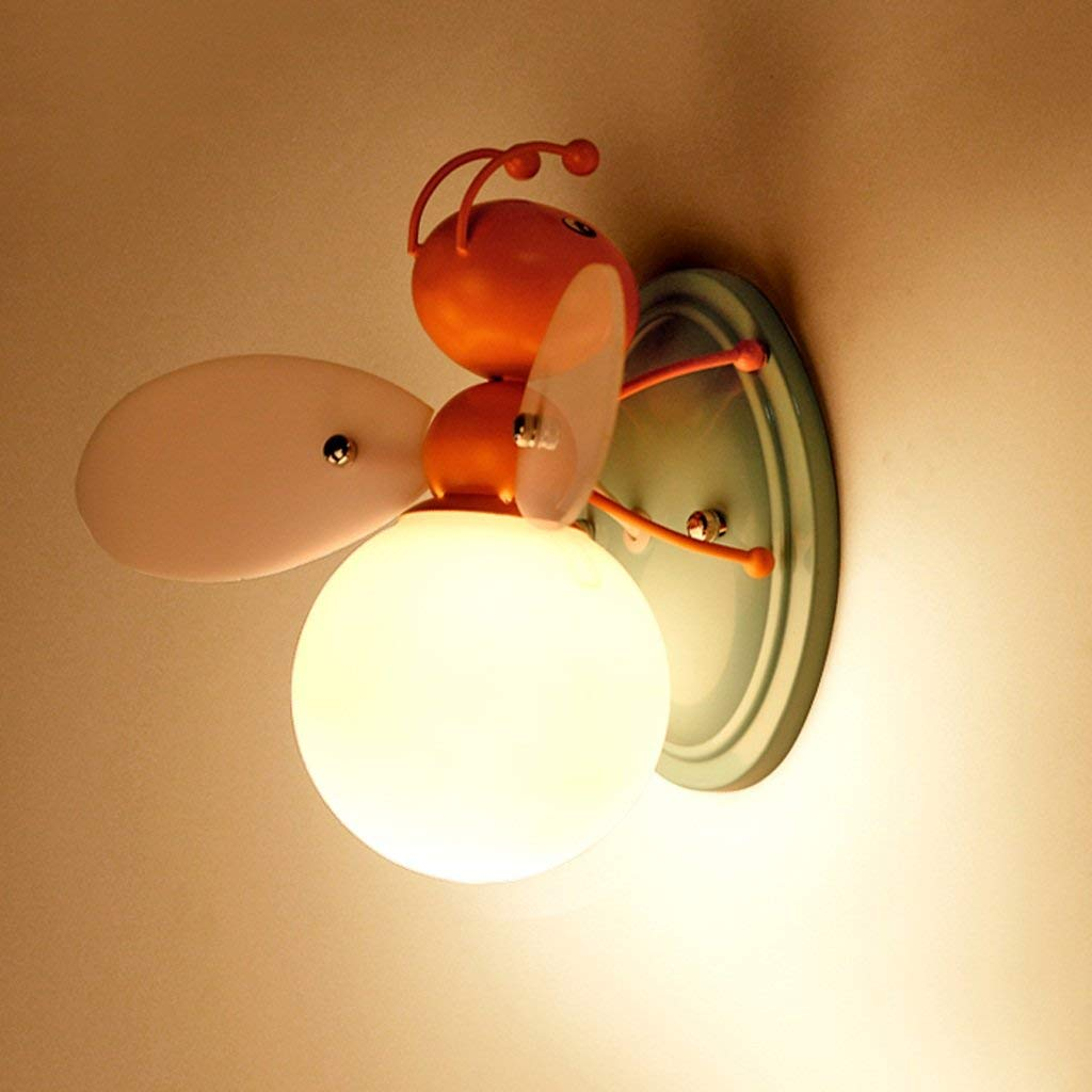 Creative Bambino posto letto in camera decorazione luminosa Led di illuminazione Bee Lampada da parete (colore   Arancio)