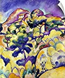 Wall Peel entitled Landscape At La Ciotat 1907. Braque Landscape 1907. Landscape At La Ciotat. Oil On Canvas By Georges Braque 1907. Multiple sizes available. Primary colors within this image include Dark Yellow Light Yellow Royal Blue Dark Navy Blue...