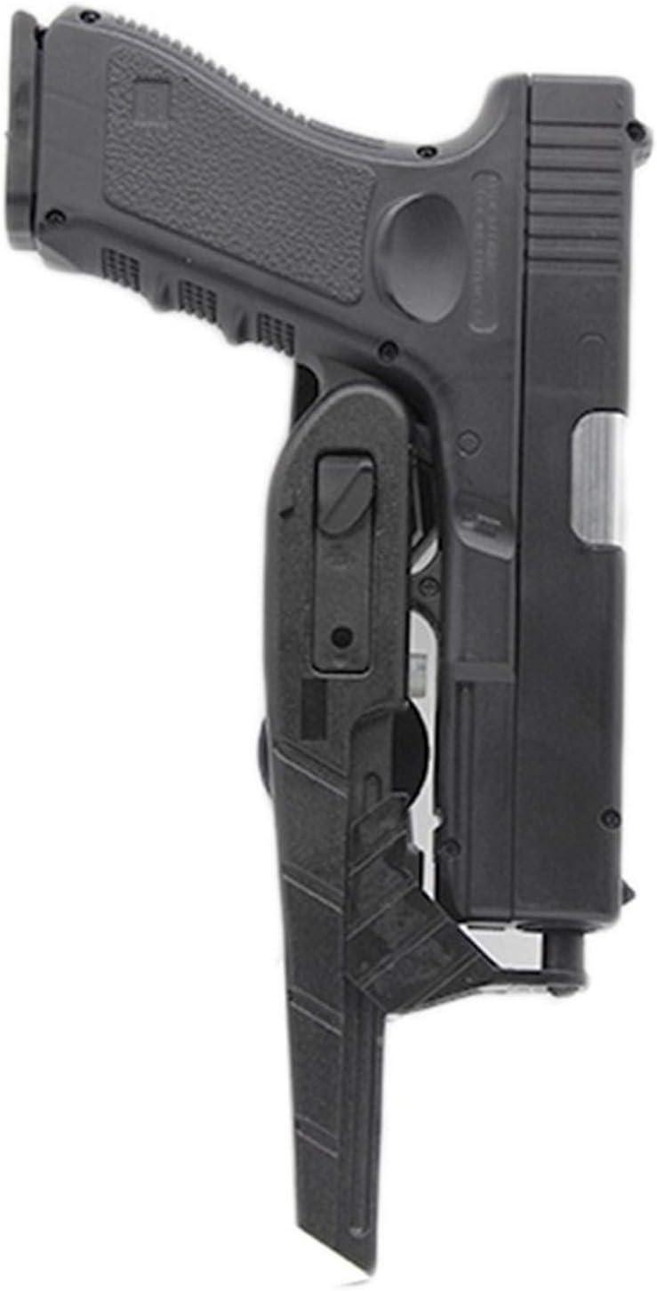 Vioaplem Correa De La Pistolera Estilo IPSC CR Velocidad Universal Pistola Cubierta De La Caja Pistola De Airsoft Tactical Accesorios Caza Pistolera Tamaños Ajustables (Color : Black Color)
