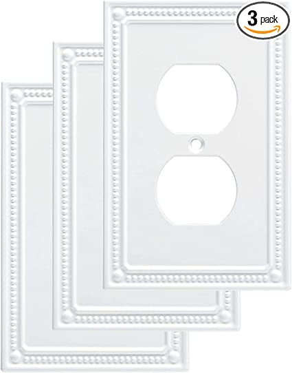Franklin Brass W35059v Pw C Classic Beaded Single Duplex 3 Pack White