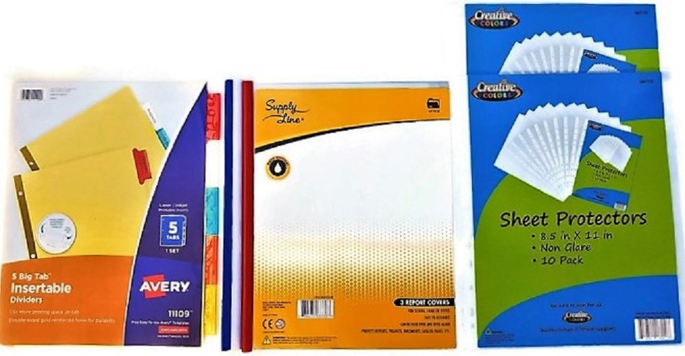 Over 55 Count School Supply Bundle by All Day Gifts, for Middle, High School and College - Binder, Mechanical Pencils, Sharpie, Pens, Hi-liters, Folders, Note Books Plus More (College Ruled) by All Day Gifts (Image #6)